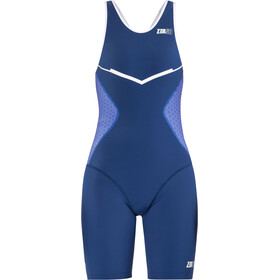 Z3R0D Racer Triathlon-puku Naiset, dark blue/white